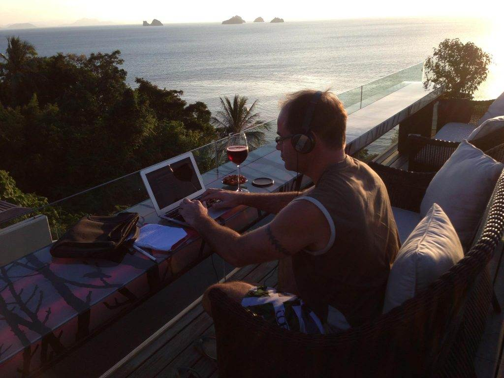 Digital nomad at work